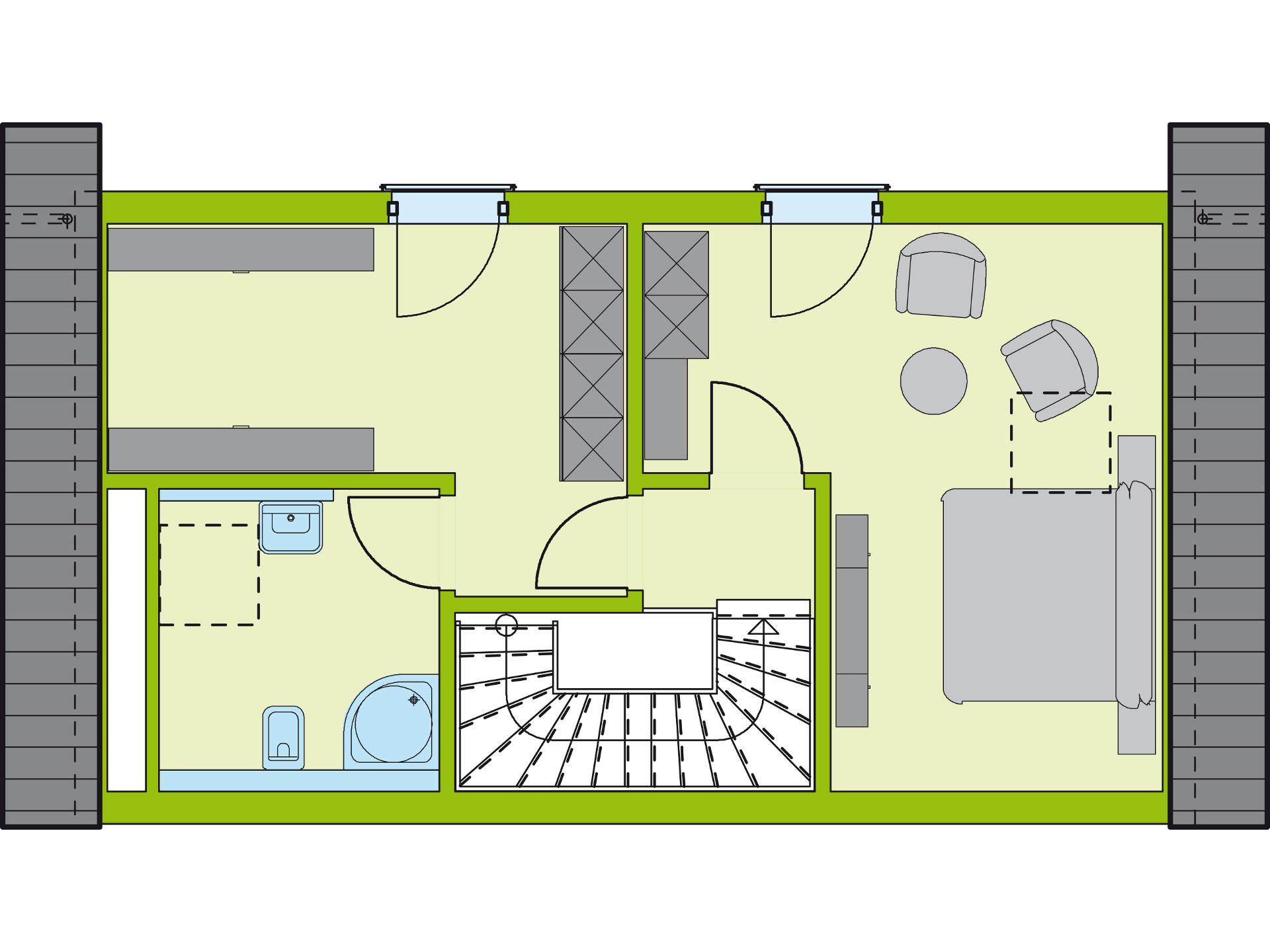Grundriss DG Stadt-Special 4 von massa haus GmbH