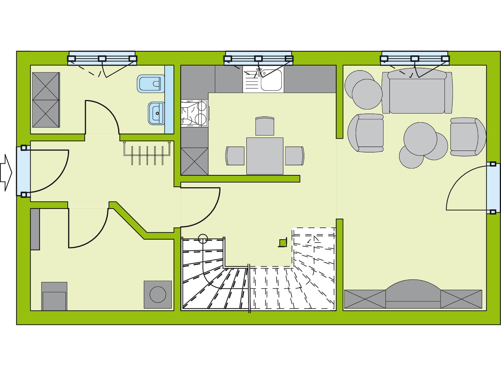 Grundriss EG Stadt-Special 4 von massa haus GmbH