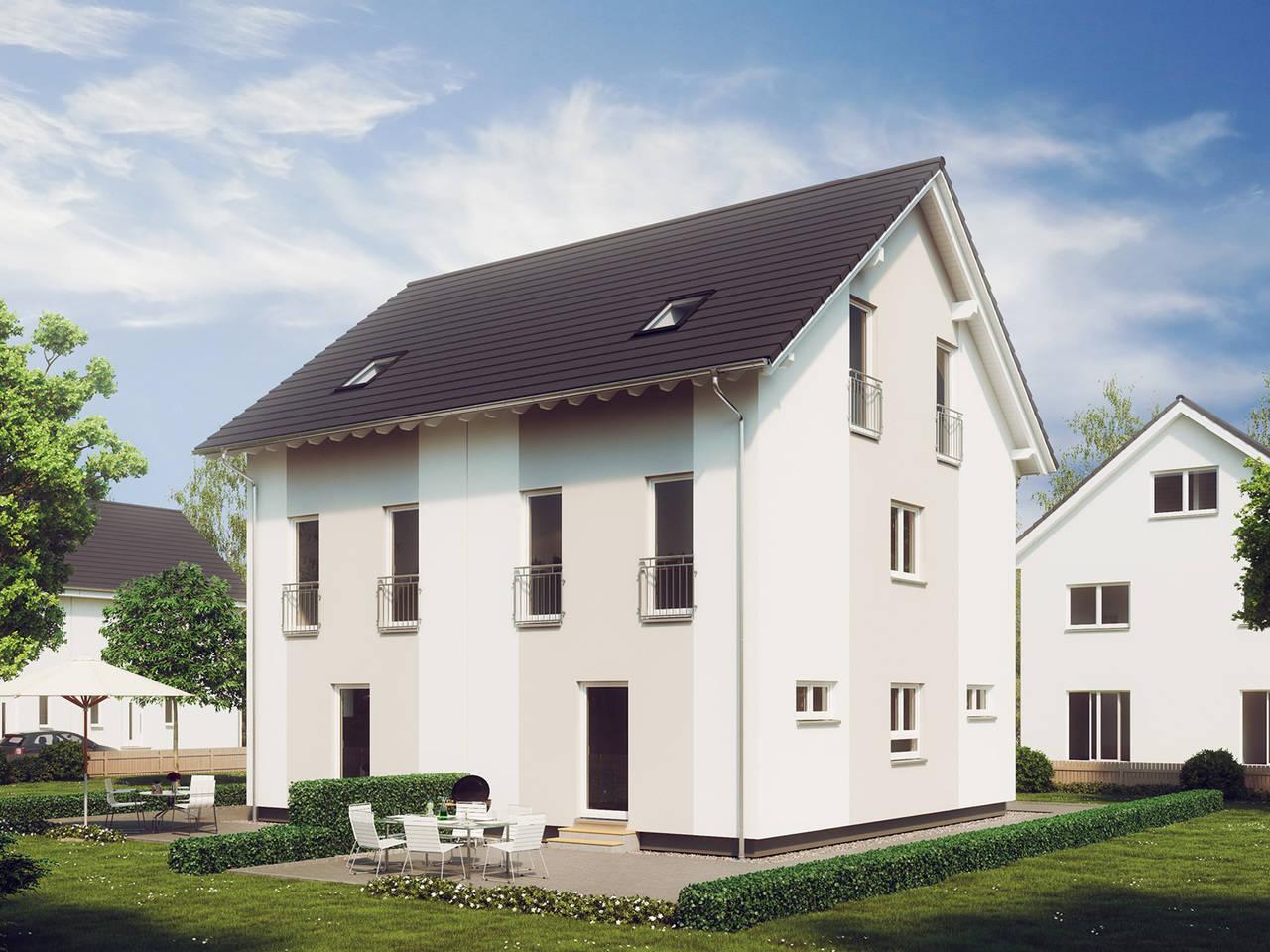 Aussenansicht Haus Stadt-Special 4 von massa haus GmbH