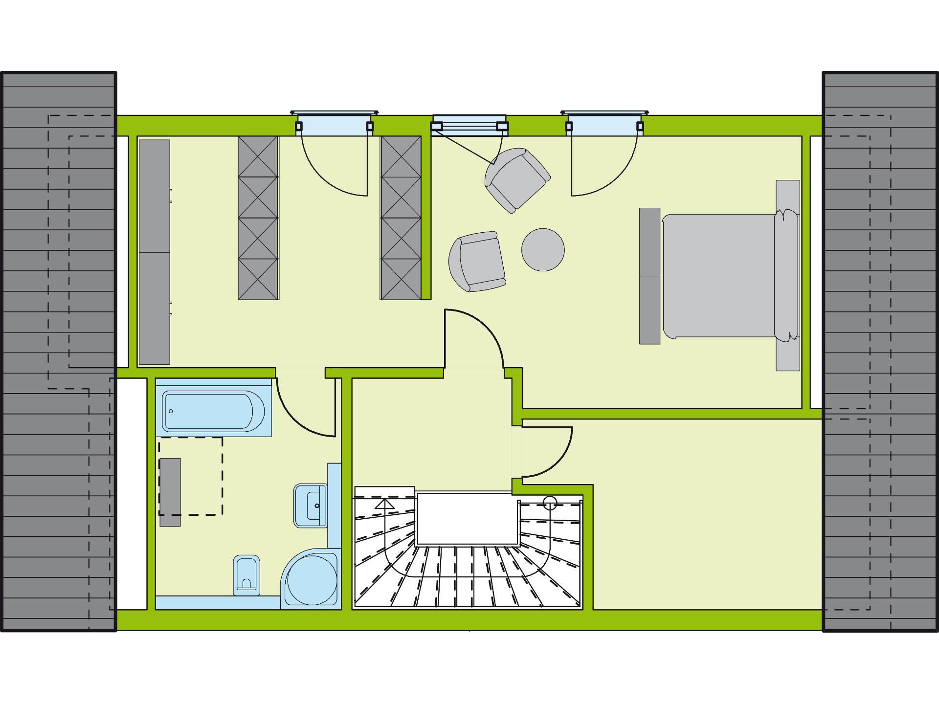 Grundriss DG Stadt-Special 5 von massa haus GmbH