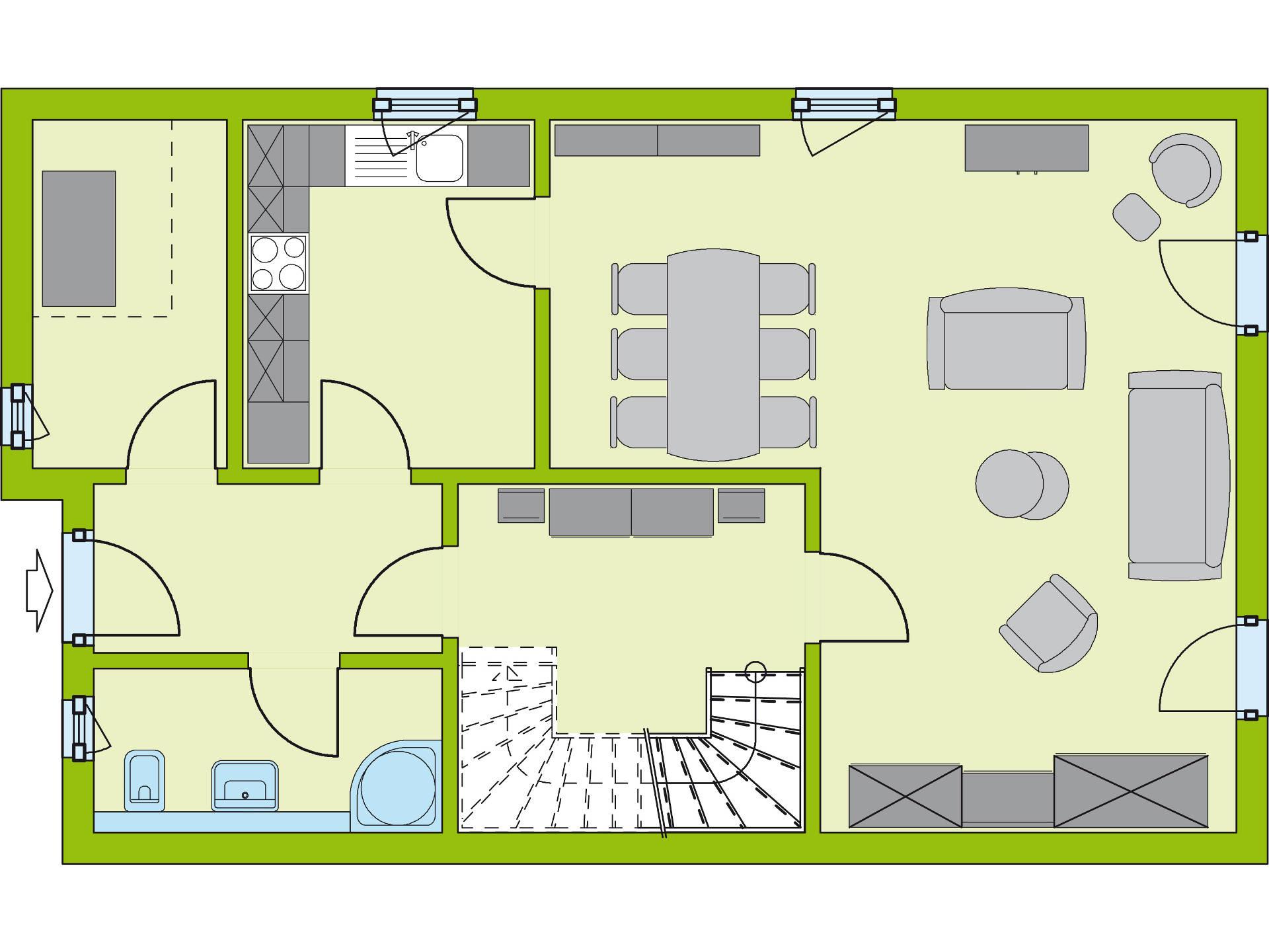 Grundriss EG Stadt-Special 5 von massa haus GmbH