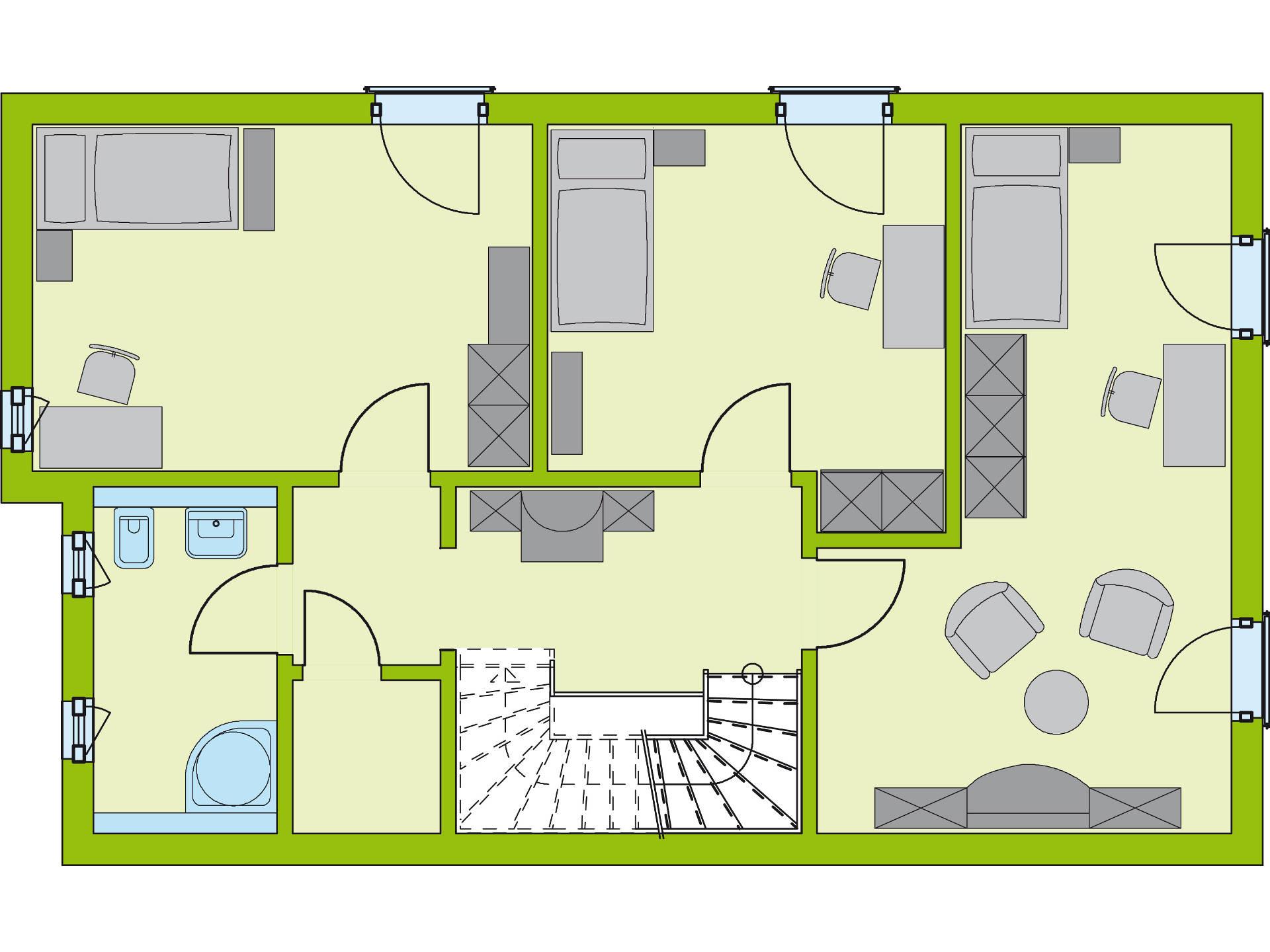 Grundriss OG Stadt-Special 5 von massa haus GmbH