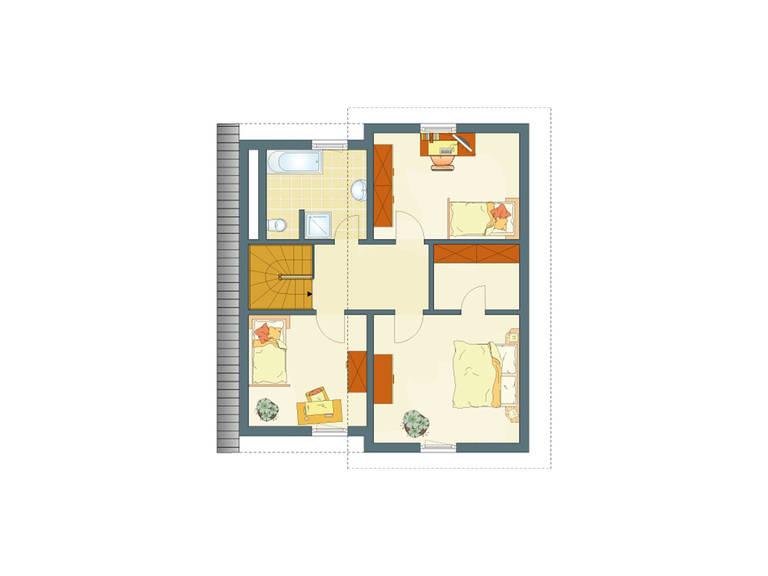Grundriss DG Haus Ventur 100 von Fingerhaus GmbH