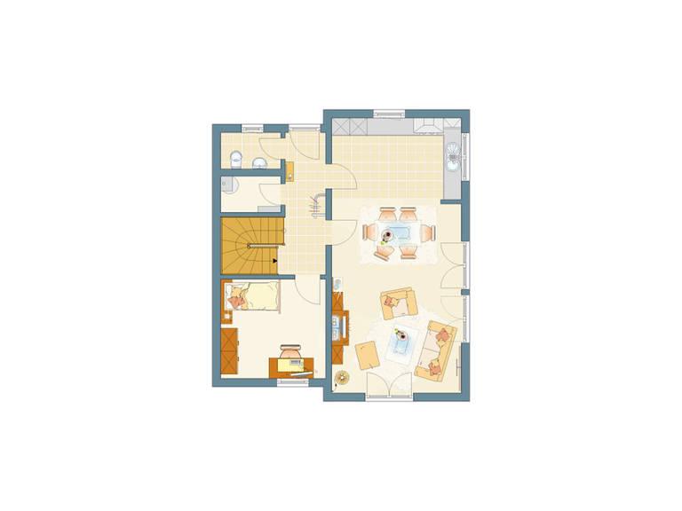Grundriss EG Haus Ventur 100 von Fingerhaus GmbH