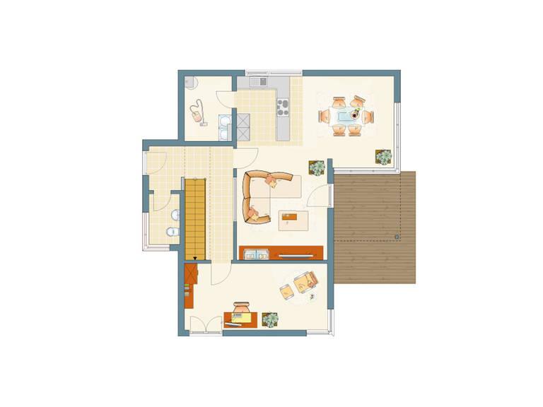 Grundriss EG Architektur Trend 100 von FingerHaus GmbH