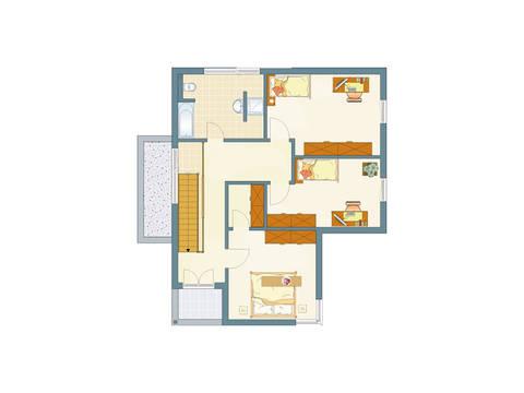 Grundriss OG Architektur Trend 100 von FingerHaus GmbH