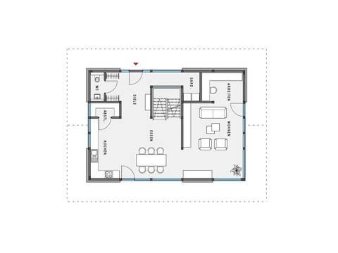 Grundriss EG Haus modum: 7:10 von Huf Haus