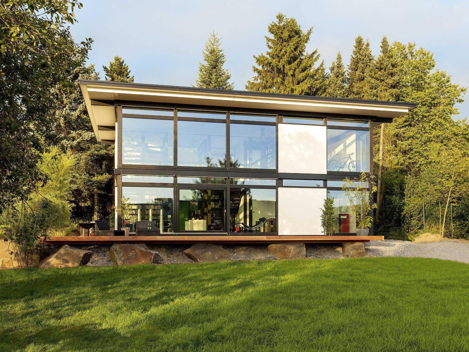 Elegant Haus Mit Flachdach Galerie Von 3