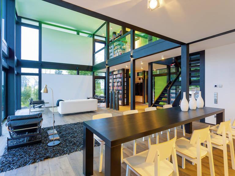 HUF Haus modum: 7:10 - Wohnbereich hell & gemütlich