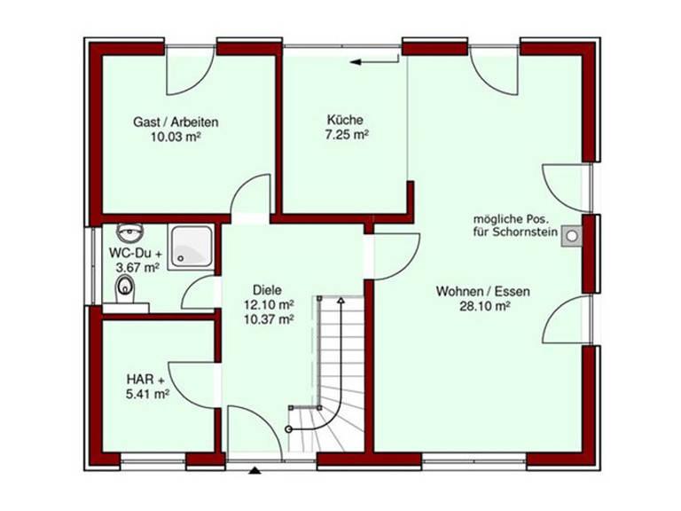 Grundriss EG Mare Haus Lotse 121