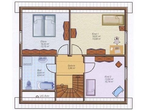 Haus Easyway Classic 120 T Grundriss Dachgeschoss.