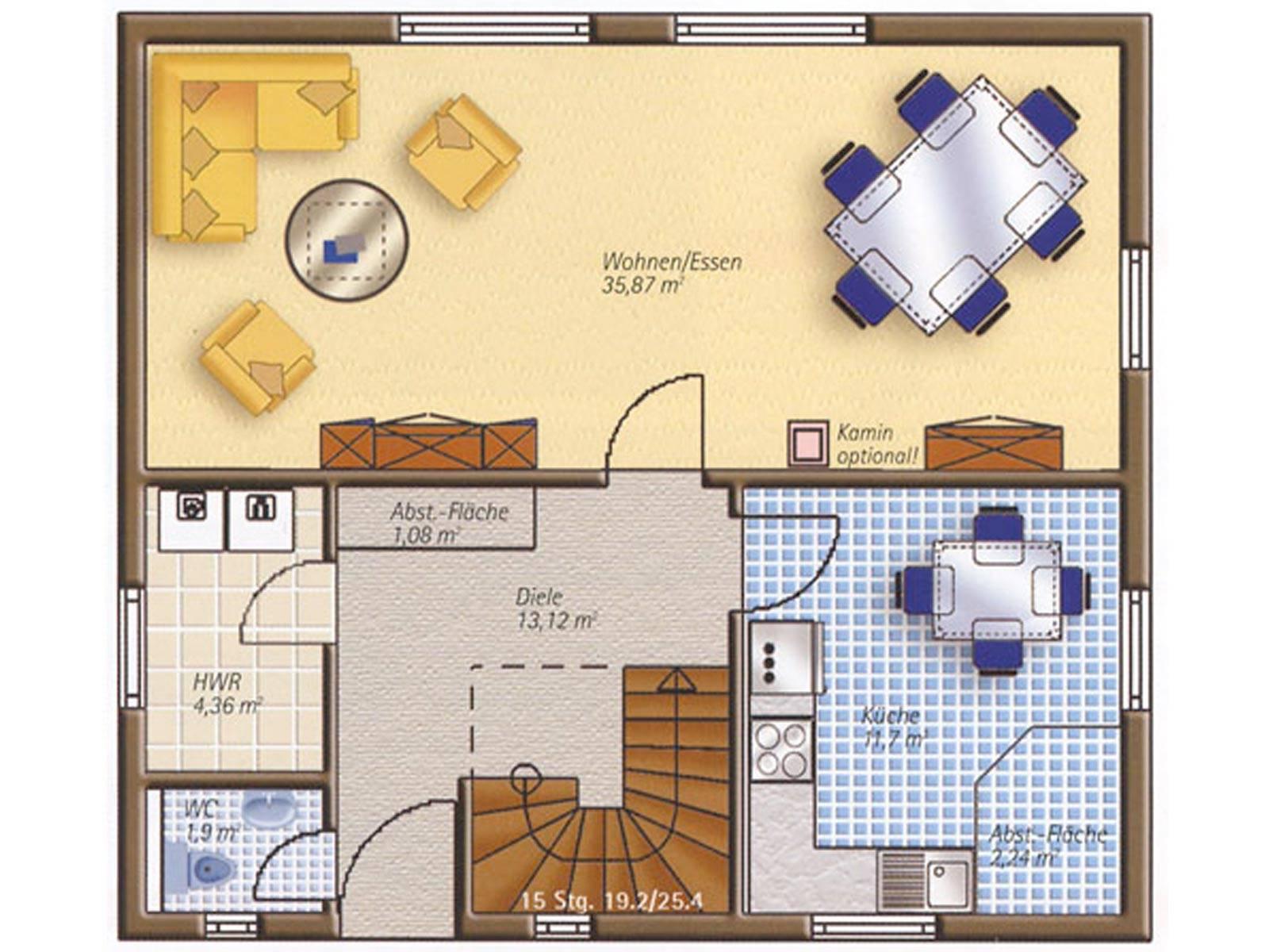Haus Easyway Classic 120 T Grundriss Erdgeschoss.