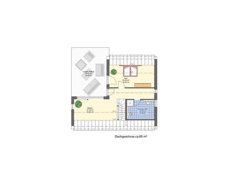 Grundriss DG Haus Lifestyle Trend von Zenz-Massivhaus
