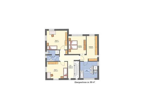 Grundriss OG Haus Lifestyle Trend von Zenz-Massivhaus