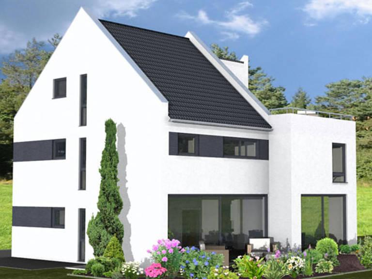 Aussenansicht Haus Lifestyle Trend von Zenz-Massivhaus