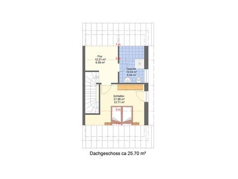 Grundriss DG Doppelhaushälfte DH2