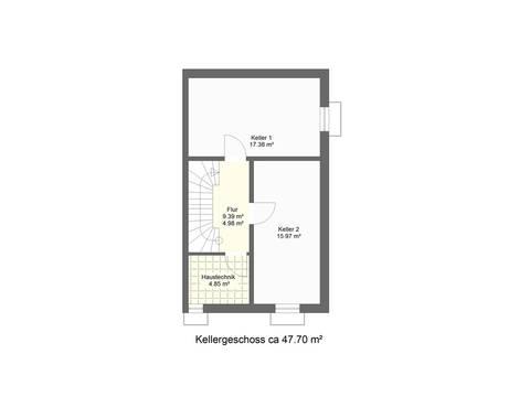 Grundriss KG Doppelhaushälfte DH2