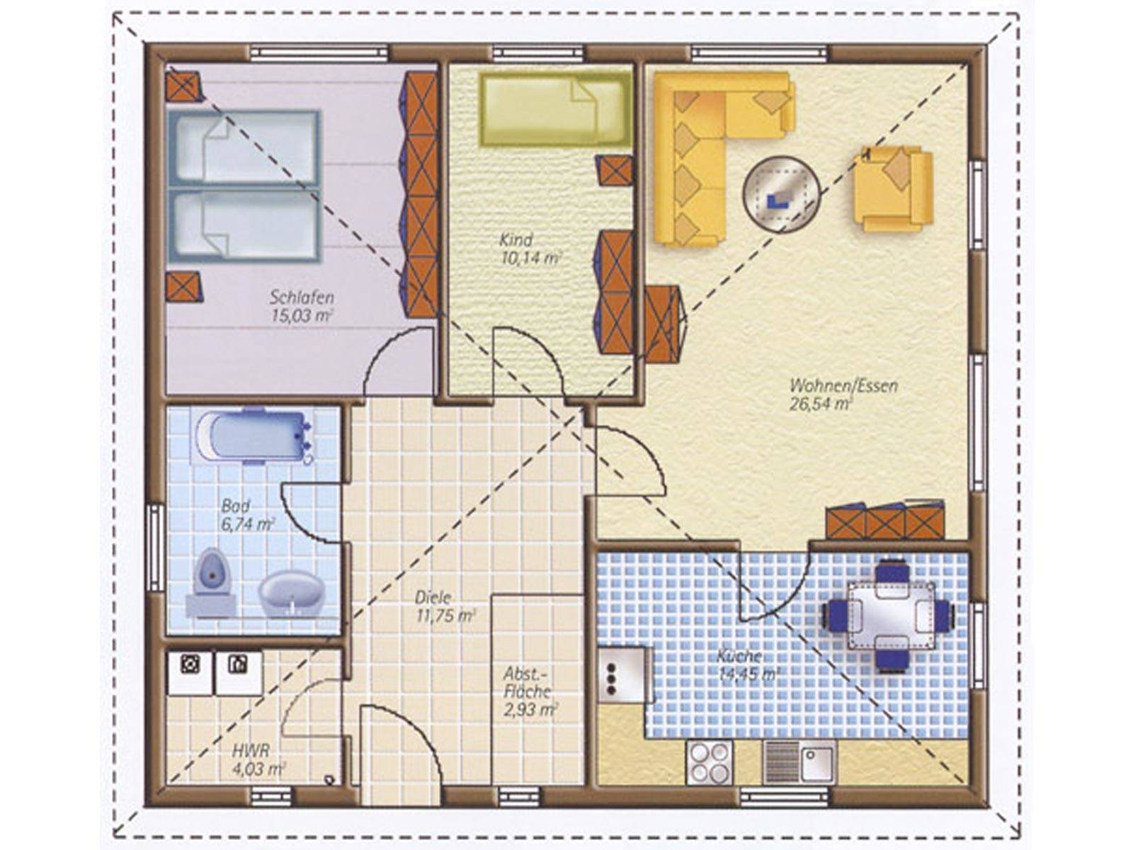 Easyway Comfort 92 Grundriss Erdgeschoss