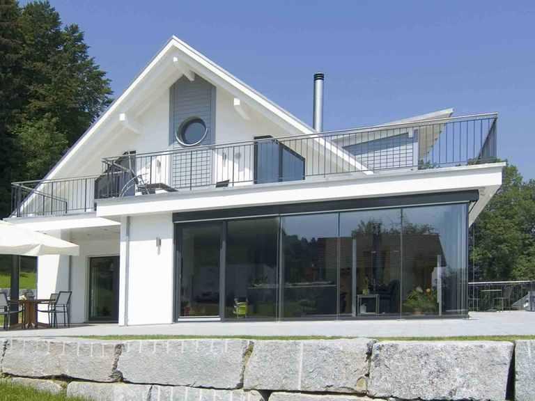 Einfamilienhaus mit Hanglage - WeberHaus Terrasse
