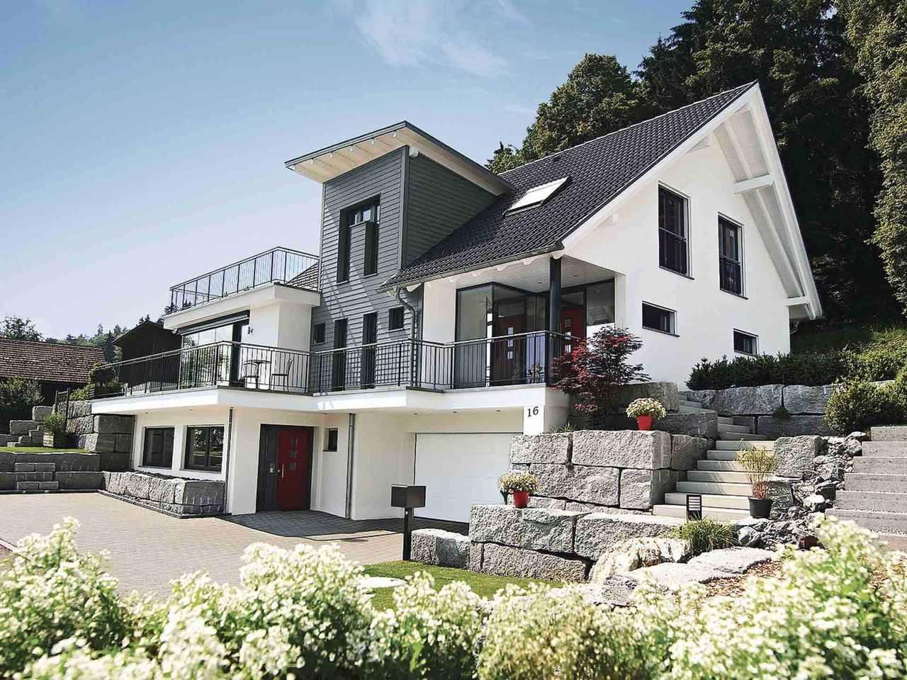 Einfamilienhaus mit hanglage weberhaus for Einfamilienhaus bauen ideen