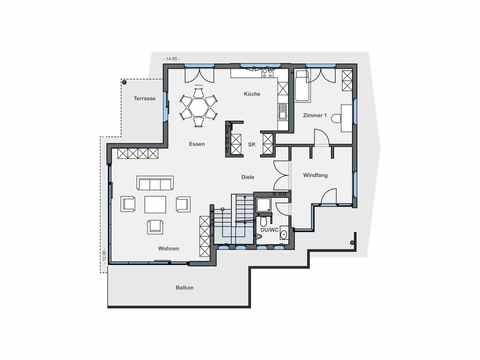 Einfamilienhaus mit Hanglage - WeberHaus Grundriss EG
