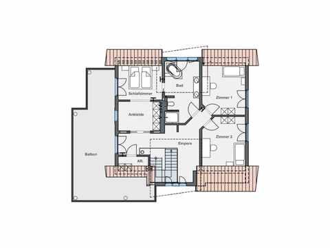 Einfamilienhaus mit Hanglage - WeberHaus Grundriss OG