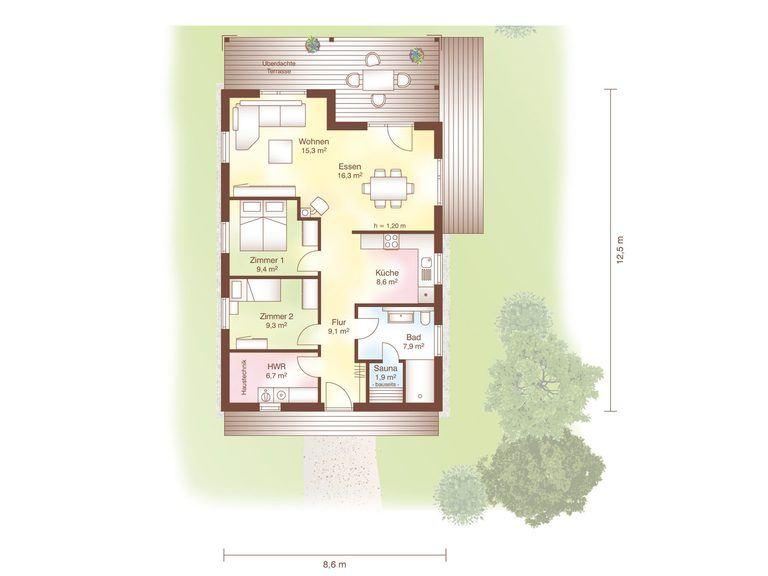 Grundriss Haus Tunö von Fjorborg