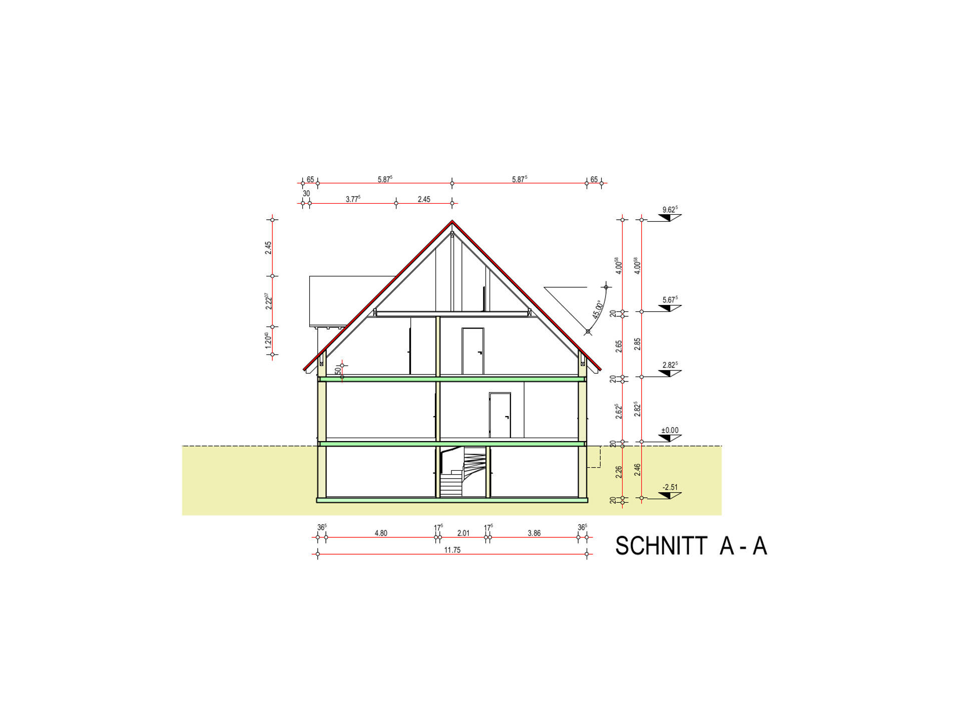 Schnitt Haustyp Freiburg
