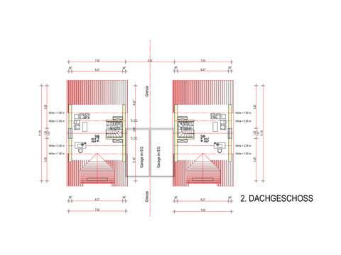 Grundriss DG 2 Haustyp Freiburg
