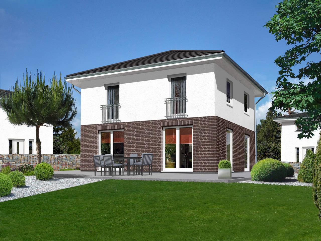 Stadthaus Flair 124 Klinkerriemchen A5 von FIMA Hausbau