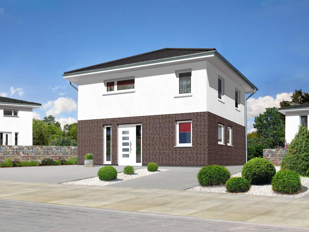 Stadthaus Flair 124 Klinkerriemchen A6 von FIMA Hausbau