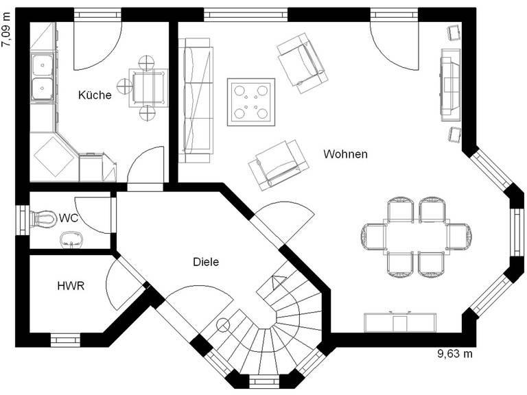 White Pearl 1 Grundriss Erdgeschoss