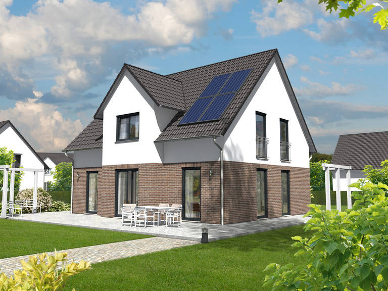 Lichtshaus 152 Klinkerriemchen 5 von ZuHaus Bau GmbH - Town & Country