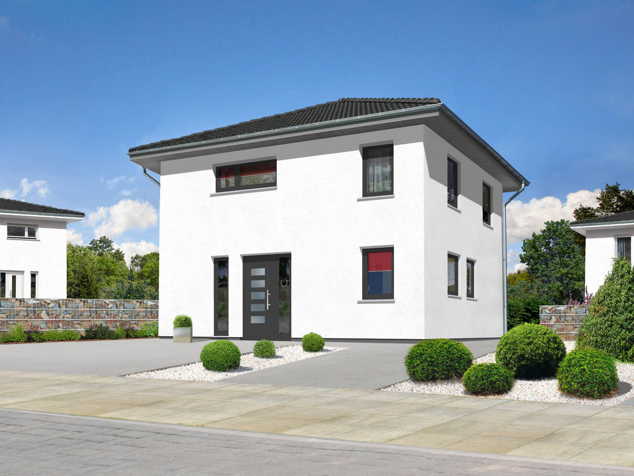 Stadthaus Flair 124 elegance A2 von ZuHause Bau GmbH - Town & Country