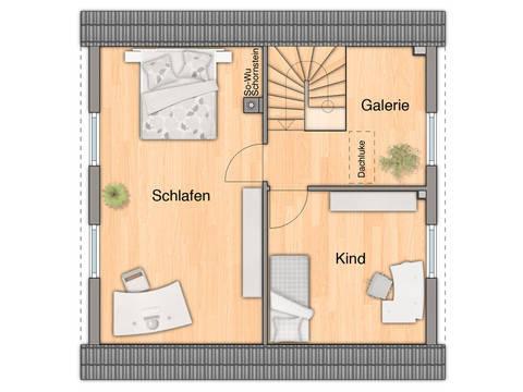 Grundriss Dachgeschoss Aspekt 90 von ZuHause Bau GmbH - Town & Country