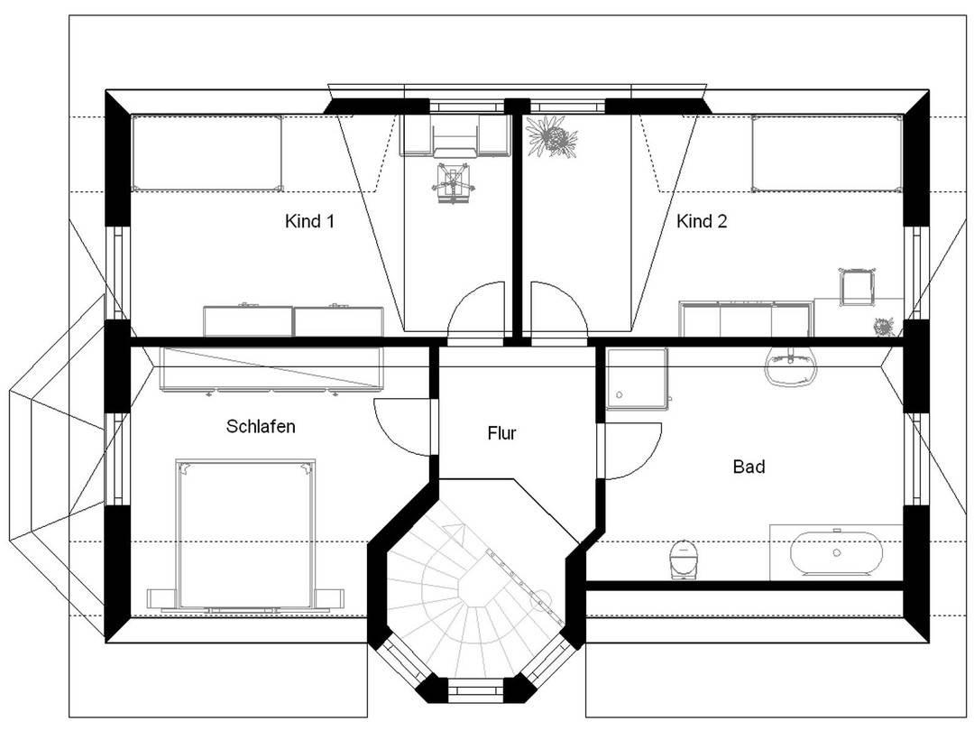 White Pearl 130 Grundriss Dachgeschoss