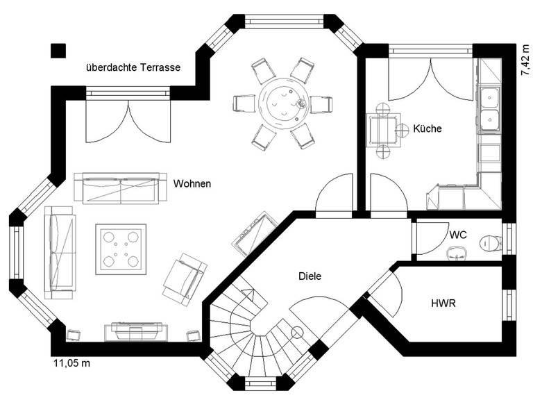 White Pearl 130 Grundriss Erdgeschoss