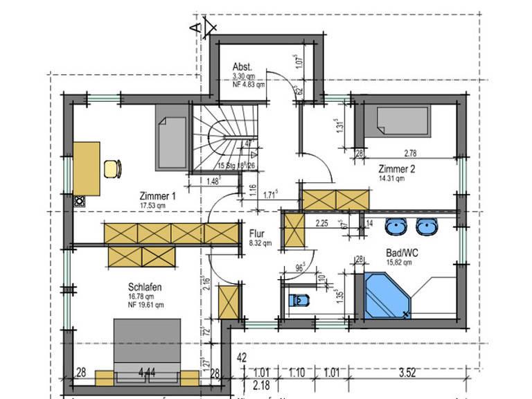 Grundriss DG Energiehaus 141