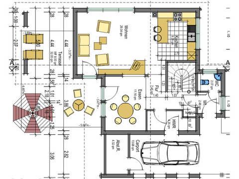 Grundriss EG Energiehaus 141