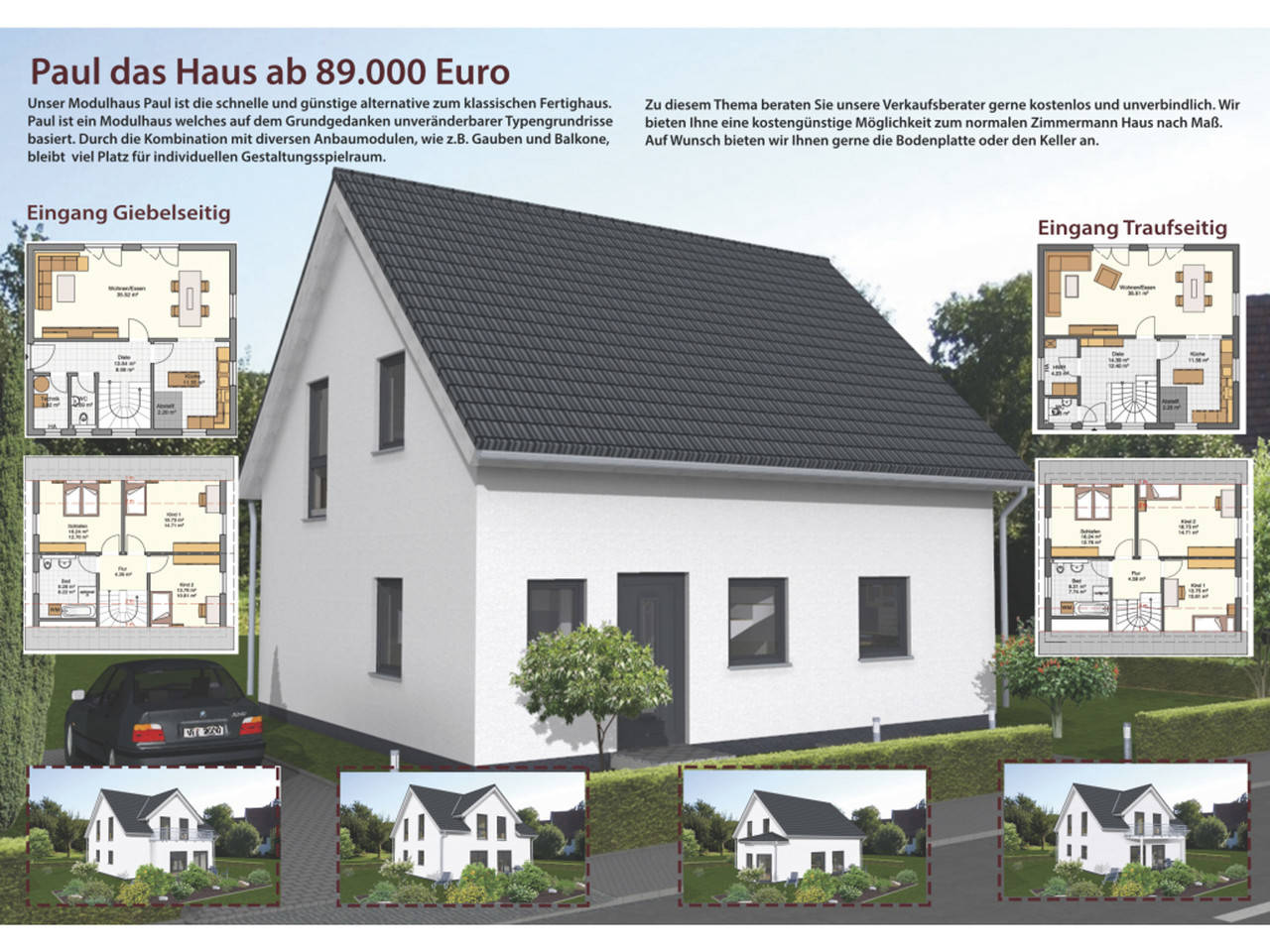 Übersicht Modulhaus Paul von Zimmermann Haus