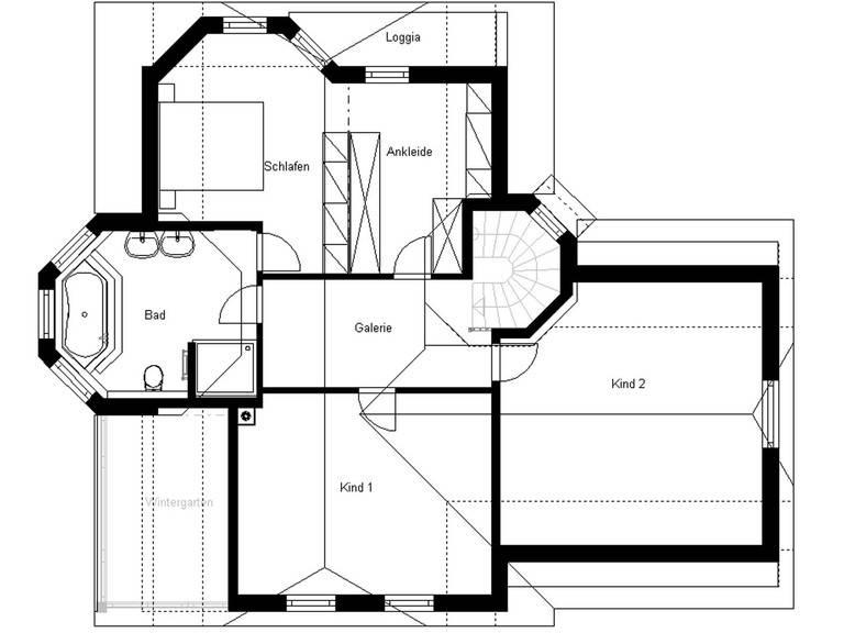 White Pearl 130 Anbau Finesse Grundriss Dachgeschoss