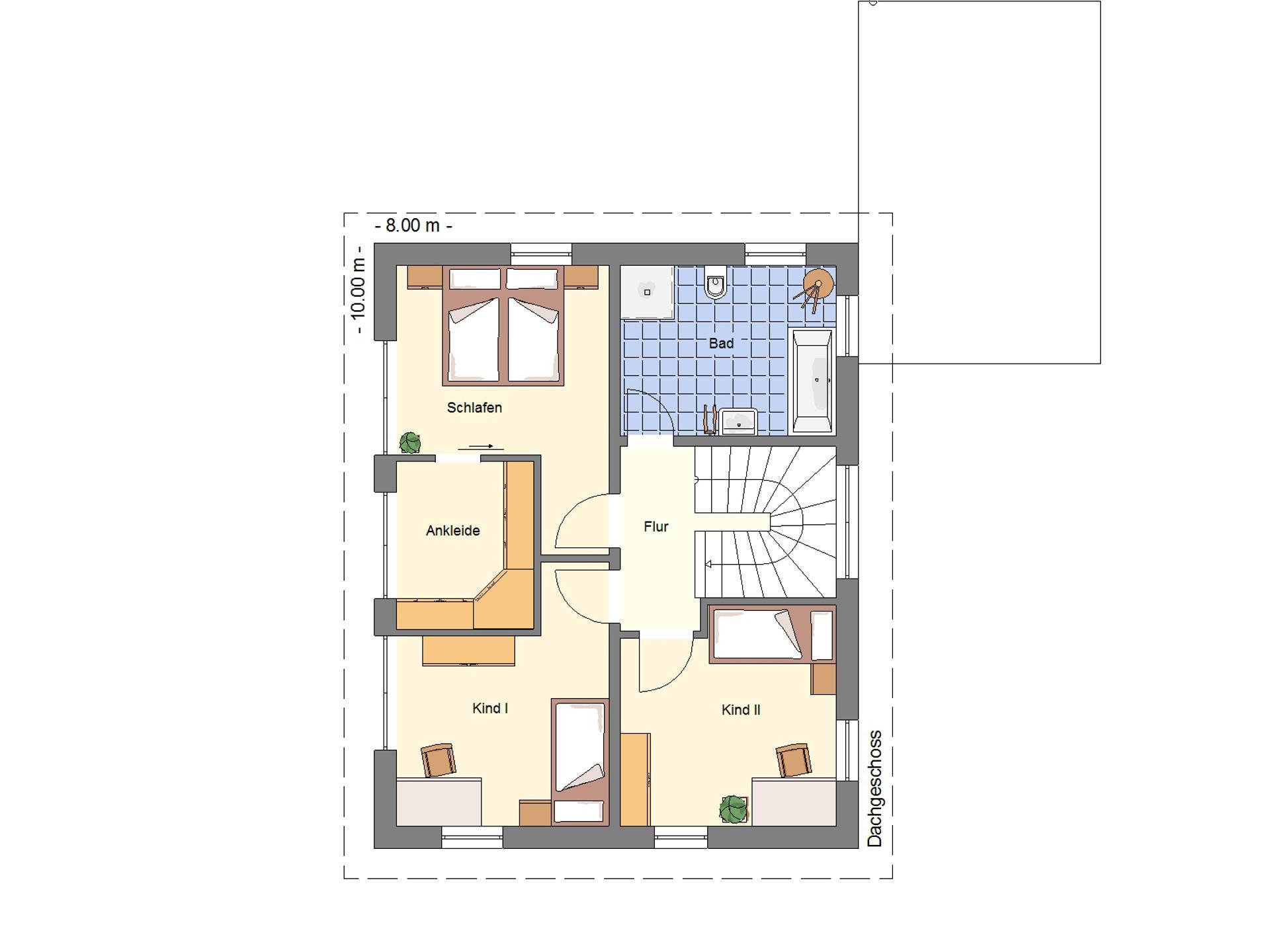 Grundriss DG Einfamilienhaus 128