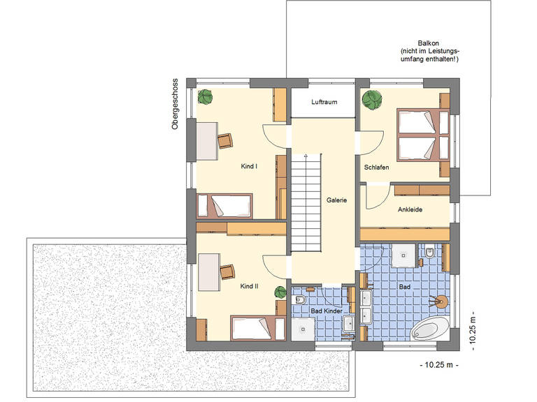 Grundriss OG Einfamilienhaus 170