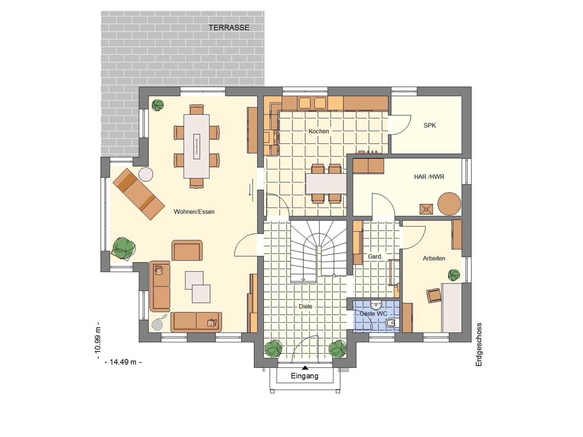 Grundriss Stadtvilla 232