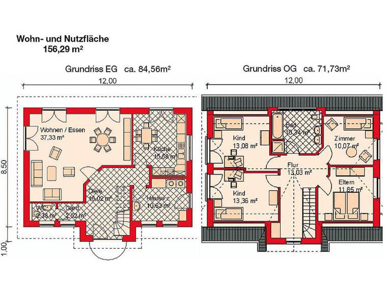Grundrisse Einfamilienhaus Sylt