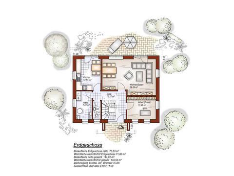 EG Herrengiebelhaus im Landhausstil von Tönjes & Meichsner