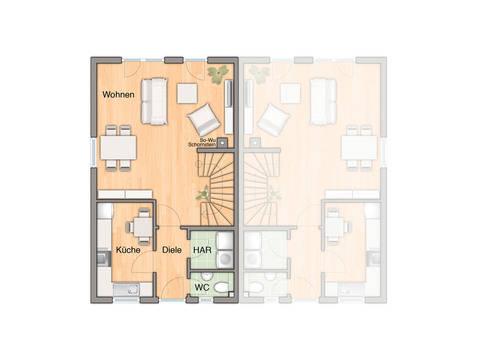 Doppelhaus Mainz 128 Grundriss Erdgeschoss