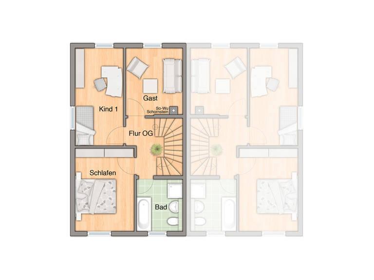 Doppelhaus Mainz 128 Grundriss Erdgeschoss 2