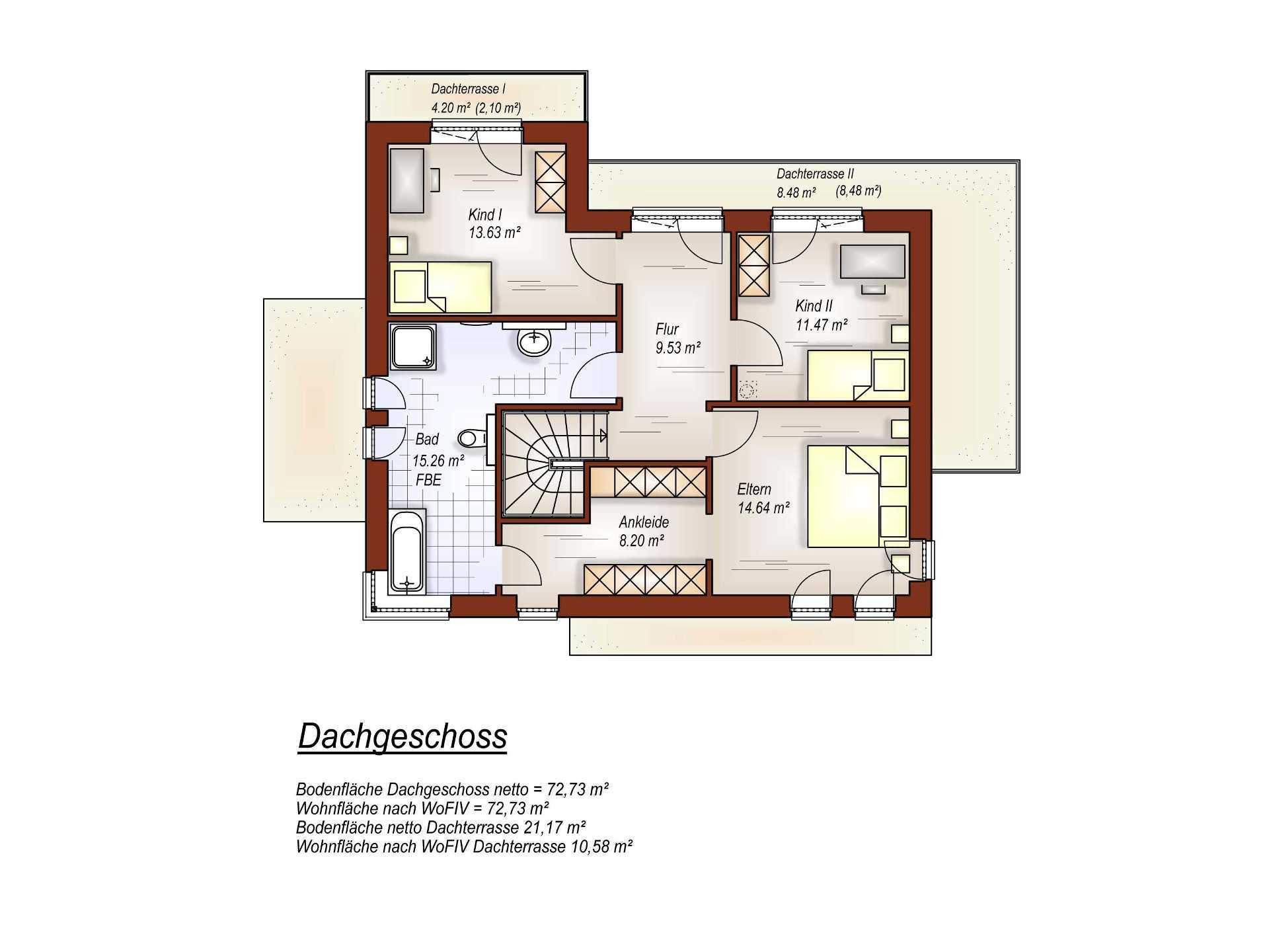 Flachdachhaus OG im Bauhausstil von Tönjes & Meichsner