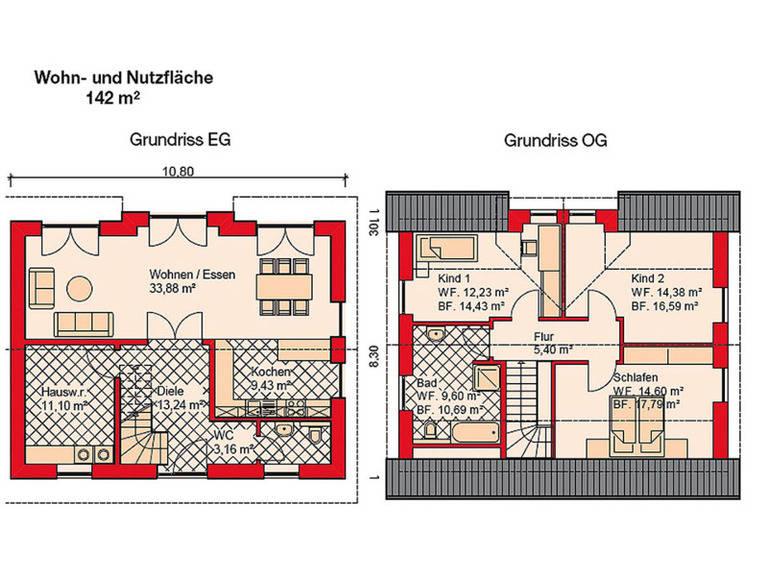 Grundrisse Einfamilienhaus Bornholm